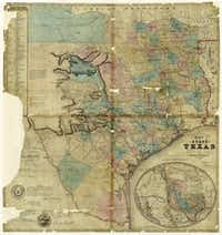 J. De Cordova's Map of the State of Texas, compiled from the records of the General Land Office by Robert Creuzbaur, Creation Date: 1849, Draftsman: Robert Creuzbaur.((Texas General Land Office))