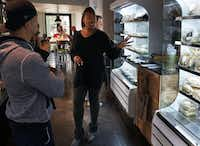 Chef Tiffany Derry speaks with customers at Uptown Urban Market in Dallas, Texas on Friday, December 10, 2016. (Lawrence Jenkins/Special Contributor)(Special Contributor)