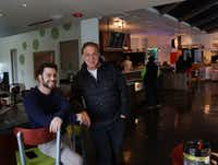 Developers Jonathan Tobolowsky and Mark Brezinski pose at Uptown Urban Market in Dallas, Texas on Friday, December 10, 2016. Urban Market is the latest food hall to pop up in North Texas.  (Lawrence Jenkins/Special Contributor)(Special Contributor)
