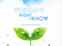 """The abortion booklet, """"Women's Right to Know"""" that state law mandates must be given to a woman 24 hours before her scheduled abortion. (Department of Health and Human Services)"""