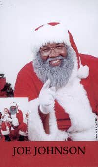 Joe Johnson as Santa Claus in 2002((File Photo))