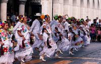 Yucatecan folkloric dancers in Merida, capital of Yucatan state. (Sharon McDonnell)