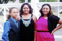 Storm Malone (left) was injured and his mother, Toya Smith (center), and sister, Tasmia Allen, were allegedly shot and killed  by Erbie Lee Bowser on Aug. 8, 2013.