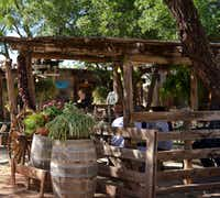 The patio at Perini Ranch Steakhouse is a friendly place for lunch and dinner in Buffalo Gap.((June Naylor))