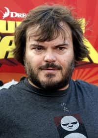 "In this Nov. 9, 2008 file photo, actor Jack Black poses on the press line at the DVD release event for the animated feature film ""Kung Fu Panda"" in Los Angeles. (AP Photo/Dan Steinberg, file) (AP)"