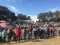 More than 300 protesters in Dallas rally for Aleppo at Dealey Plaza