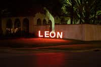 "<p><span style=""font-size: 1em; background-color: transparent;"">A home photographed in Highland Park this month where </span><span style=""font-size: 1em; background-color: transparent;"">""Leon"" is noel spelled backwards. </span></p>((Jesse Rieser) )"