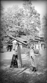 """Antonia Maury installed a 6-inch Clark telescope at the old Draper homestead in Hastings-on-Hudson. She intended it for the edification of local residents, especially children. From&nbsp;<i>The Glass Universe</i>, &nbsp;by Dava Sobel. &nbsp;(<p><span style=""""font-size: 1em; background-color: transparent;"""">Harvard University Archives</span><br></p><p></p>)"""