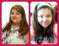 BEFORE and AFTER: At her heaviest, Monica Flores weighed 276 pounds. She's now below 200, thanks to careful eating and exercise. (Photo left by Diana Cabral, right by Trea Madole)<div><br></div>(<p><br></p><p><br></p><p></p><p></p><p><br></p><p></p>)