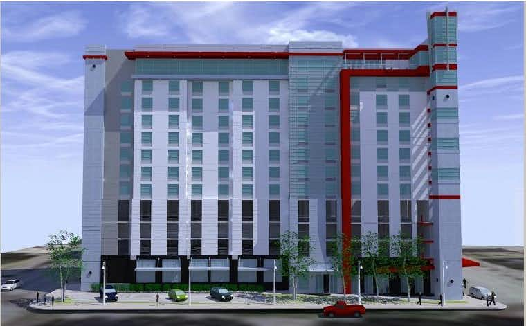 The 12-story hotel will open in early 2018.Equity Hotel Group