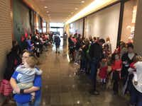 The lines for NorthPark's Santa must be seen to be believed.((Dave Lieber/Staff))
