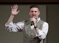 A file photo of Richard Spencer, who leads a movement that mixes racism, white nationalism and populism, in College Station, Texas.  (AP Photo/David J. Phillip, File)(AP)