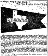 From<i> The Dallas Evening Journal</i> on March 11, 1916.