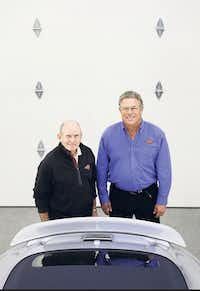 """Jack Griffin and Fred Gans of Garages of Texas.(<p><span style=""""font-size: 1em; background-color: transparent;"""">(Andy Jacobsohn/The Dallas Morning News)</span></p>)"""