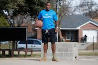 Xavier Briscoe plays basketball with other classmates at Cornerstone Crossroads Academy in Dallas. Xavier lost around 50 pounds after getting nutrition advice. (Nathan Hunsinger/Staff Photographer)