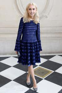 This file photo taken on September 30, 2016 shows fashion editor Franca Sozzani posing before the Christian Dior 2017 Spring/Summer ready-to-wear collection fashion show in Paris.(AFP/Getty Images)