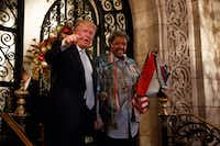President-elect Donald Trump, and  boxing promoter Don King spoke with reporters Wednesday at Mar-a-Lago in Palm Beach, Fla. AP Photo/Evan Vucci(AP)