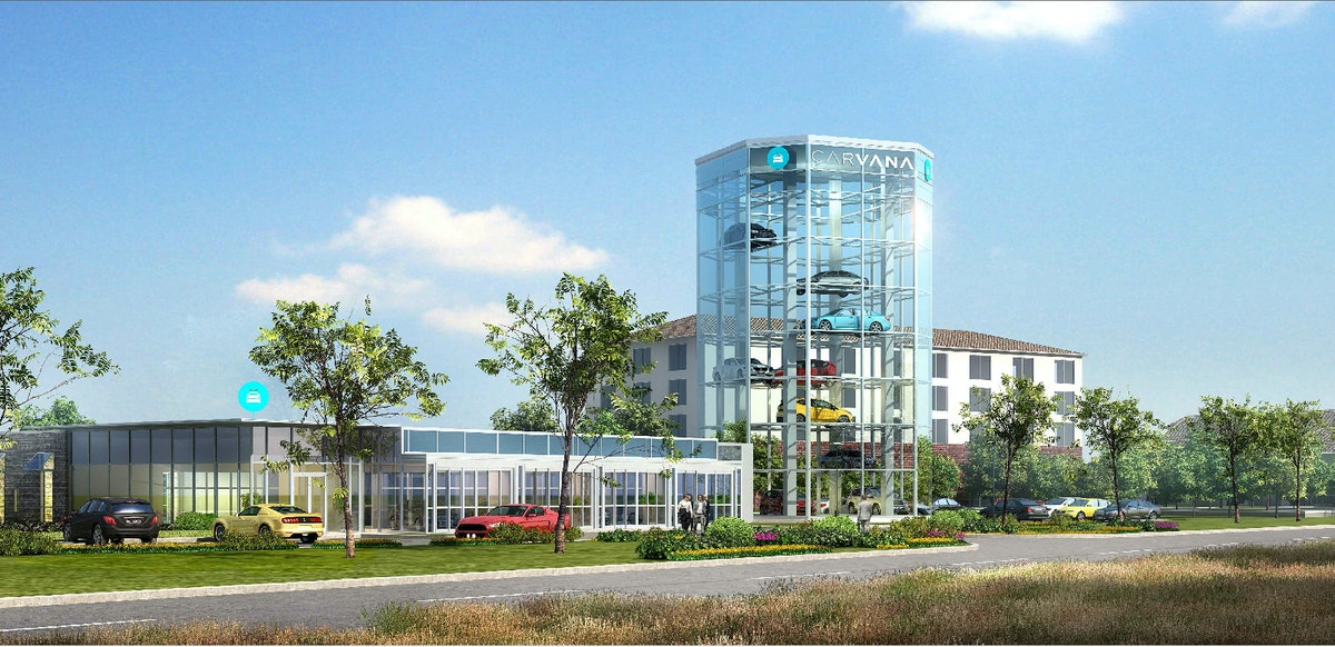 Yes, that's a car vending machine Carvana's building in Frisco next to ...
