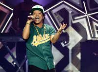Bruno Mars performs at the 2016 Jingle Ball at Staples Center on Friday, Dec. 2, 2016, in Los Angeles. (Photo by Chris Pizzello/Invision/AP)(Chris Pizzello/Invision/AP)