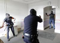 Dallas Police currently use the abandoned, decaying Lamar School for reality-based training, but hope to get funding for a new, modern facility.  ((2015 File Photo/David Woo))