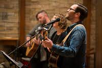 "From left: Justin Brooks, Melissa Flanigan and Ryan Flanigan perform at The Canterbury House at SMU on Thursday, Dec. 1, 2016, in Dallas.(<p><span style=""font-size: 1em; background-color: transparent;"">(Smiley N. Pool/The Dallas Morning News)</span><br></p><p></p>)"