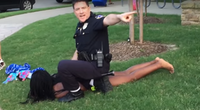 McKinney Officer Eric Casebolt pinned down teenager Dajerria Becton on June 5, 2015, while responding to an unruly party at a private pool in the Craig Ranch neighborhood. (YouTube)