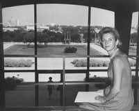 Ruth Carter Stevenson, daughter of Amon Carter Sr., an oilman and philanthropist, at the Amon Carter Museum in 1961. Stevenson died on Jan. 6, 2013 at her home in Fort Worth. She was 89. (Amon Carter Museum of American Art via The New York Times)(NYT)