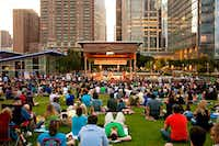 Discovery Green in Houston hosts a lot of outdoor concerts.Discovery Green