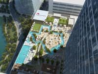 New on Discovery Green in downtown Houston, the 1,000-room Marriott Marquis brings with it a wealth of new retail and restaurant options, as well as a Texas-shaped swimming pool and lazy river for floating.Marriott Marquis Houston