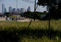 The view of downtown near the corner of  E. 11th Street and Fleming Avenue on the east side of Interstate 35 in the Tenth Street Historic District in Dallas Tuesday June 22, 2016. (Andy Jacobsohn/The Dallas Morning News)(Staff Photographer)