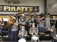 The Crawford High School Pirate Band has grown over the course of the school year.(Photo courtesy of Daniel Yguerabide)