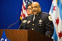 "Chicago Police Superintendent Eddie Johnson called the attack in his city ""reprehensible."" (James Foster/Chicago Sun-Times)"