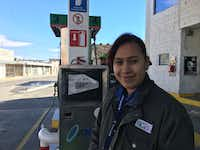 Alejandra Magallanes, a student and gas station attendant in Ciudad Juarez, said her nephews had to cancel a trip to the border city because of highway blockades. (Angela Kocherga/Staff)