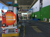 This gas station in Ciudad Juarez saw business fall by about 50% after the the fuel price hike January first. Some motorists in Mexico are crossing the border to fill their tanks in Texas where the price of gas is cheaper.(Angela Kocherga)