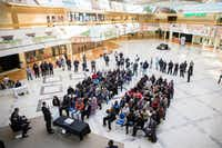 Community members gathered to see plans for the future of the mall formally known as Redbird Mall on Saturday at Southwest Center Mall in Dallas. (Andrew Buckley/Special Contributor)