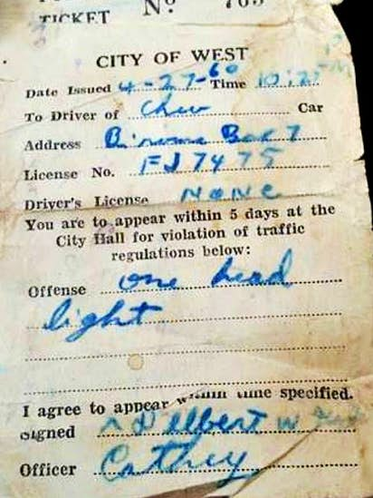 Texas woman wasn't about to let 56-year-old traffic ticket go