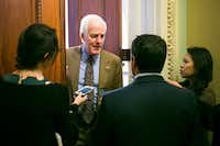 Senate Majority Whip Sen. John Cornyn, at the Capitol earlier this month, says he supports Rex Tillerson's nomination. (Al Drago/The New York Times)