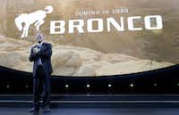 Ford Executive Vice President and President of the Americas for Ford Motor Company, Joe Hinrichs announces plans for a 2020 Bronco at the North American International Auto show, Monday, Jan. 9, 2017, in Detroit. (AP Photo/Carlos Osorio)(AP)