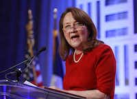 "Texas first lady Cecilia Abbott, along with state protective services chief Hank Whitman, wrote, ""Sometimes it takes a congregation to raise a child."" (File Photo/Tom Fox)"