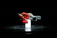 Adam Langdon (right), as Christopher Boone, performs during the 'The Curious Incident of the Dog in the Night-Time' play at Winspear Opera House in Dallas.(Jae S. Lee/Staff Photographer)