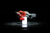 Adam Langdon (right), as Christopher Boone, performs during the 'The Curious Incident of the Dog in the Night-Time' play at Winspear Opera House in Dallas.Jae S. Lee/Staff Photographer