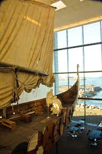 At Viking World, visitors can enter an exact replica of a Viking ship, which sailed across the Atlantic in 2000. Reykjavik.(Paul Ross)