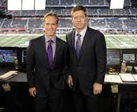 Some lucky donor will get to spend some time with Joe Buck and Troy Aikman. (Frank Micelotta/PictureGroup)