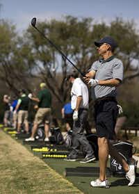 Tal Harris of Plano works on a driving range at the Clubs of Prestonwood.(Staff/2016 File Photo)