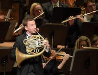 David Cooper performsStrauss' Horn Concerto No.1  at the Morton H. Meyerson Symphony Center on Thursday.   (Rex C. Curry/Special Contributor)(Special Contributor)