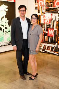 Jason and Ree Willaford at the Dallas Art Fair Preview Gala at FIG in downtown Dallas on Thursday, April 11, 2013.  Photography by Mei-Chun Jau for <i>FD Luxe</i>.(Special Contributor)