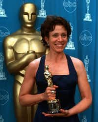 Frances McDormand, when she won the Oscar for her role in <i>Fargo</i>. (AP Photo/Reed Saxon)(AP)