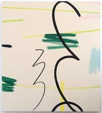Mel Davis, <i>Perhaps Hand (spring), 2016</i>, Oil on canvas, 58 x 52 in.(Galleri Urbane)