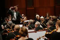 After several months on strike, the Fort Worth Symphony Orchestra returned to performing under the direction of Conductor David Danzmayr at Bass Hall in Fort Worth.((Lawrence Jenkins/Special Contributor))