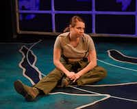 Jenny Ledel performs in the one-woman show, 'Grounded,' for Second Thought Theatre at Bryant Hall on the Kalita Humphreys Campus in Dallas Jan. 11-Feb. 4, 2017.(Karen Almond)